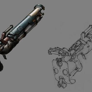 Официальный арт Дротикомёта из Dead Space 2