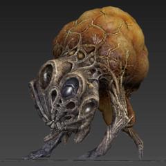 Рендер инопланетного ребёнка Ползуна