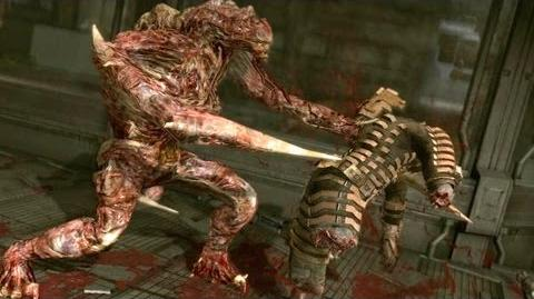 Dead Space 1 The Hunter Regenerator boss fight