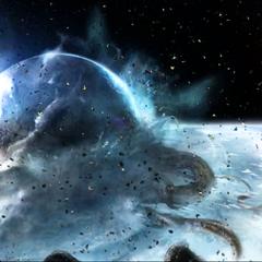 Луна Тау Волантис после окончания битвы с Айзеком и Карвером.