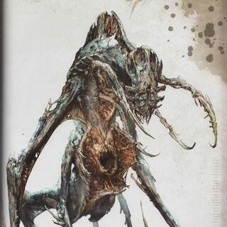 Концепт-арт инопланетного некроморфа.