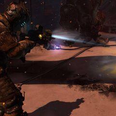 Айзек сражается против ползунов сделанных их инопланетян