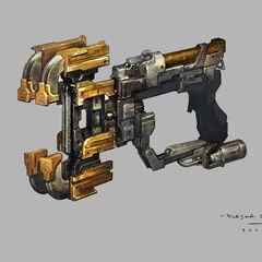Концепт-арт Плазменного резака из Dead Space 3.
