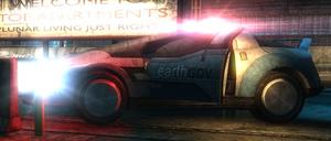 Earthgov police car