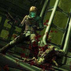 Айзек убивает Люркера в ближнем бою.