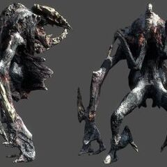 Рендер инопланетного некроморфа.