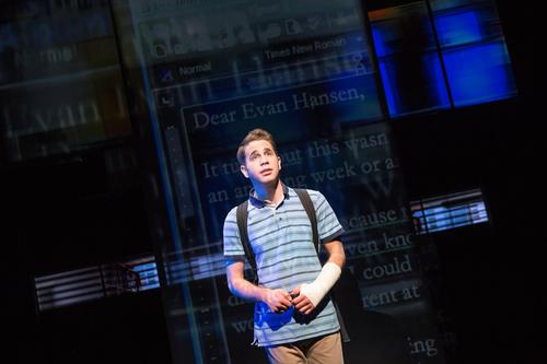 Ben Platt as Evan Hansen in the Broadway production promotional still