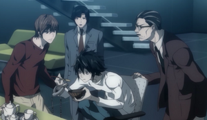 Light and Soichiro angry