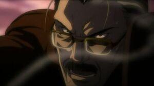 Soichiro threatens with gun