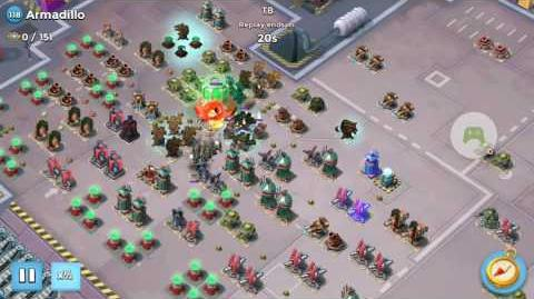 Valkyrie Will Solo on Armadillo on Choke Point Boom Beach