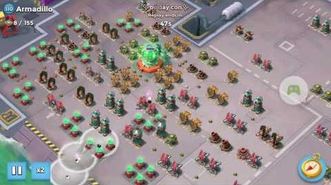 Valkyrie Will Solo on Armadillo with critters and 6 shocks on Foxtrot Boom Beach