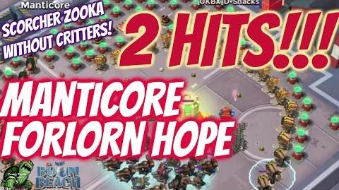Boom Beach Gameplay - Forlorn Hope Manticore 2 Hits Cut from Episode 52 - Crazy Turtle - Smoke Inc