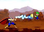 Luigi VS Thor Sprite Render