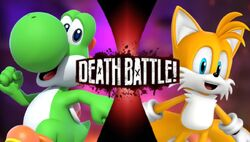 Yoshi VS Tails (Yoshirocks92)