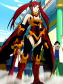 Fairy Tail - Erza Scarlet wearing Flame Empress Armor