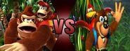 Banjo and Kazooie VS Donkey Kong and Diddy Kong
