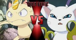 Meowth VS Gatomon