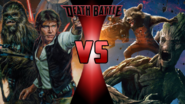 Han Solo and Chewbacca vs. Rocket Racoon and Groot
