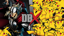Thor VS 100 Pikachus