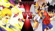 Zatch Bell and Kiyo Takamine vs. Metabee and Ikki Tenryou