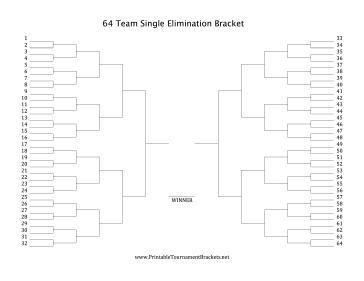 64 man single elimination bracket