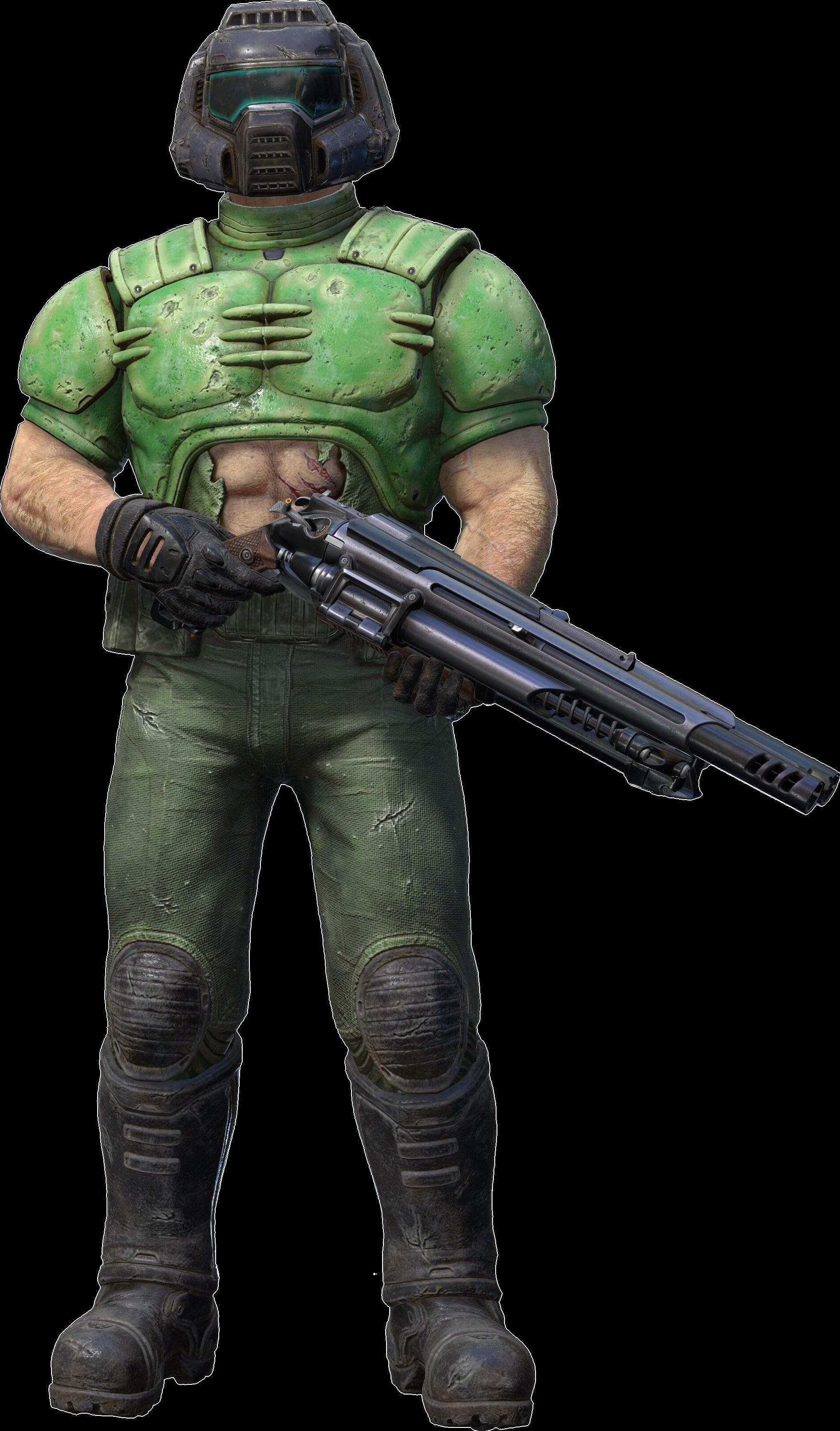 doom guy no armor