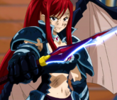 Fairy Tail - Erza Scarlet wearing Black Wing Armor