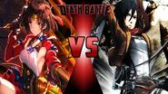 Mumei vs. Mikasa Ackerman