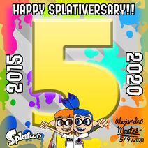 Splatoon 5 Year Splativersary