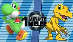 Yoshi VS Agumon (One Minute Melee)