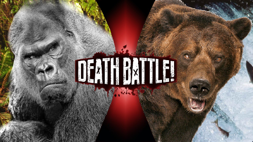Silverback Gorilla Vs Grizzly Bear