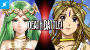 Death battle Thumbnail Version 3 - Palutena VS Belldandy