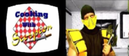 Mortal Kombat - Scorpion in his own cooking show called Cooking with Scorpion