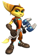 Ratchet & Clank - Ratchet Wielding his OmniWench