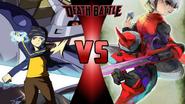 Koji Minamoto vs. Eugene Chaud and ProtoMan