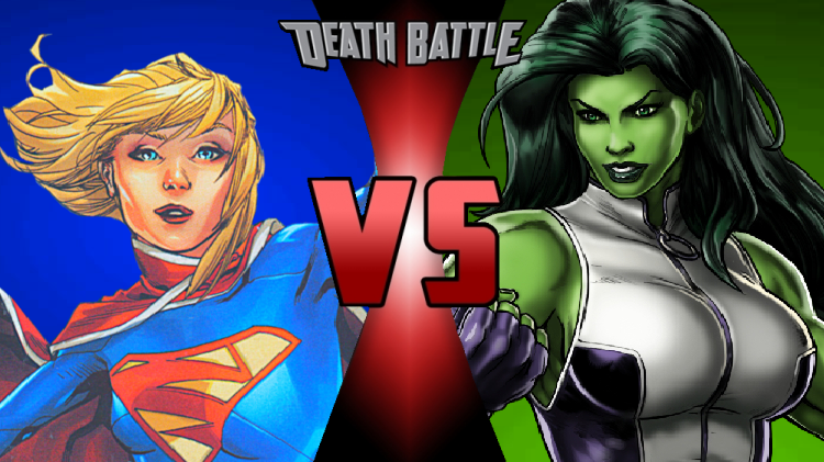 Image - SuperGirl VS She Hulk.png | DEATH BATTLE Wiki ...