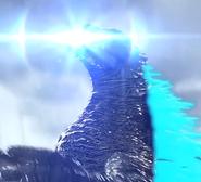 Godzilla charging