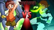 Izzy Izumi and Kabuterimon vs. Pidge and the Green Lion