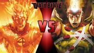 The Human Torch vs. Firestorm