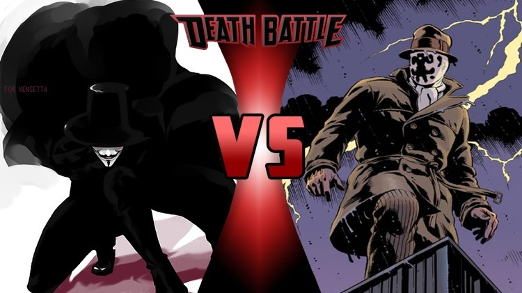 Image - V (V for Vendetta) vs Rorschach (Watchmen).jpg | DEATH BATTLE Wiki | FANDOM powered by Wikia