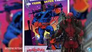 Deadpool making fun of Deathstroke