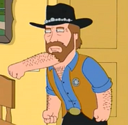 Fist under the beard