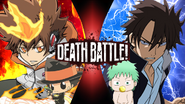 Tsunayoshi Sawada and Reborn vs Oga and Baby Beel-Reborn Demons