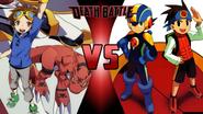 Takato Matsuki and Guilmon vs Lan Hikari and MegaManEXE
