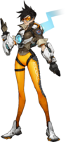 Tracer, the Ace Pilot of Overwatch