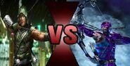 My top 10 death battles Green Arrow VS Hawkeye