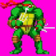 Raphael Game Boy Advance - Teenage Mutant Ninja Turtles Konami Sprite