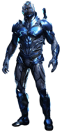 Blue beetle full body transparent background by camo flauge-dbe3a0j