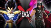 MCU Thor VS Saiyan Saga Vegeta