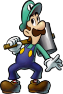 Luigi with his Hammer